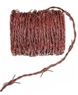 Cordón de cuero de 1 mm y 2 mm trenzado púas, color marrón. Calidad superior, precio por metro