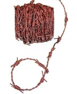 Cordón de cuero de 2 mm y 2 mm trenzado púas, color marrón. Calidad superior, precio por metro