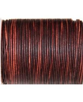 Cuero redondo 1,5mm, marrón medio. Calidad superior, precio por metro