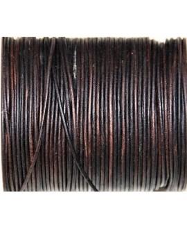 Cuero redondo 1,5mm, marrón. Calidad superior, precio por metro