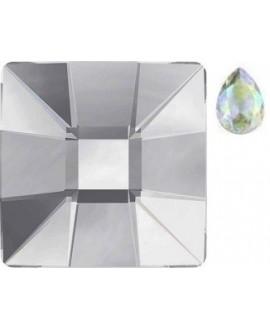 Cabujón cristal cuadrado fondo plano 12x12mm AURORE BOREALE