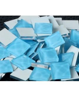 Cabujón cristal cuadrado fondo plano 10x10mm azul claro