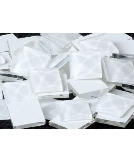 Cabujón cristal cuadrado fondo plano 10x10mm blanco