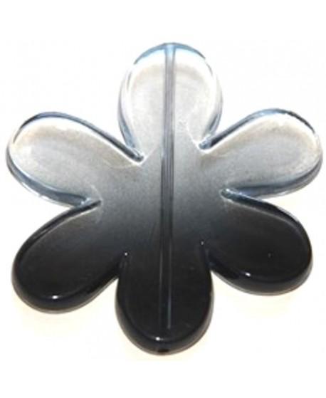 Colgante flor gris-negro 65x60mm, paso 1,5mm