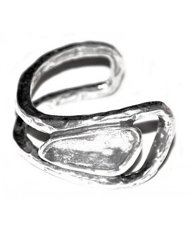 Pulsera para  cristal 32x13,5mm, zamak baño de plata