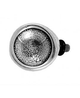 Adorno pulsera redondo 27x20mm para cristal 16mm, zamak baño de plata