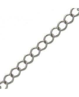 Cadena metal plata 15x12mm, precio por metro