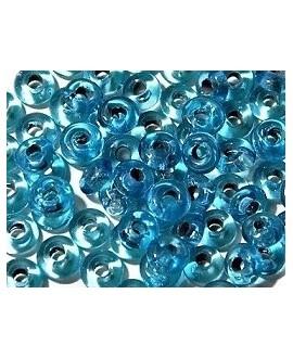 Rondel cristal indio azul 7x4mm paso 2mm, precio por 50 unidades