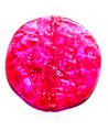 Cuenta redondo plano rosa 30mm, paso 2mm