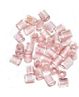 Tubo cristal indio rosa 5/6x4/5mm paso 3mm, precio por 20 unidades