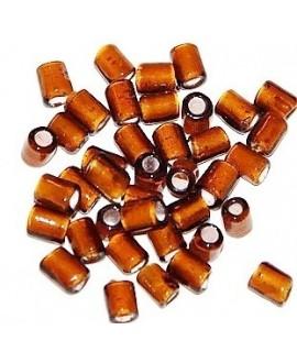 Tubo cristal indio marrón 5/6x4/5mm paso 3mm, precio por 20 unidades