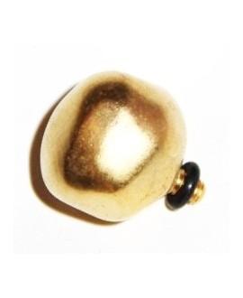 Adorno colgante o pulsera para complementar 18mm, zamak baño de oro mate