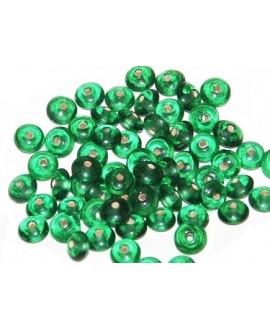 Rondel cristal indio aquamarine 5x10mm paso 1,5mm, precio por 50 unidades
