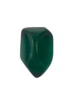 Cabujón resina irregular verde 12x8mm
