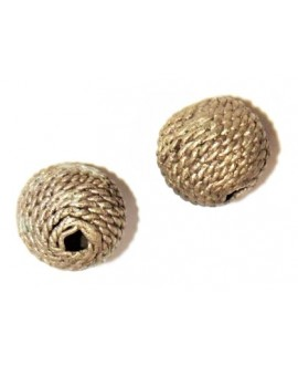 Cuenta bronce 18mm paso 3mm