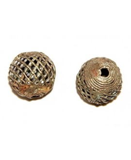 Cuenta bronce 18/20mm paso 3mm