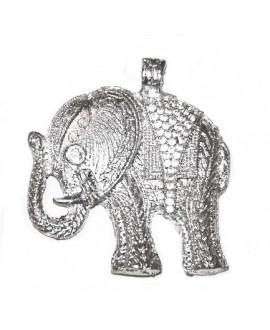 Colgante elefante 58x53mm, paso 2mm, bronce blanco