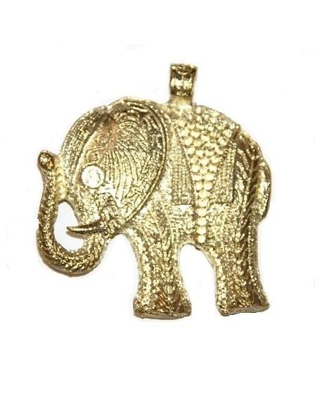 Colgante elefante 58x53mm, paso 2mm, bronce