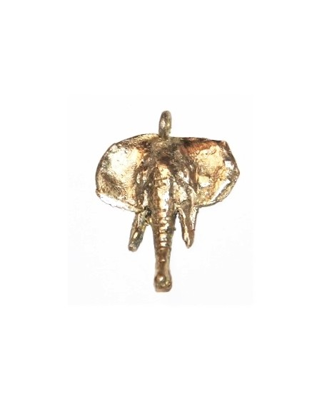 Colgante elefante 55x40mm, paso 3mm, bronce