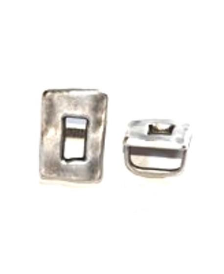 Adorno regaliz  rectangulo, paso 10x7mm, zamak baño de plata