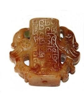 Jade colgante/entre-pieza 42x45x15mm, paso 2mm