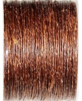 Hilo algodón tailandés marrón medio 1mm, precio por 5 metros