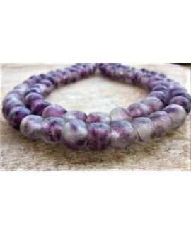 Vidrio reciclado moteado púrpura  12mm paso 2mm, precio por 15 unidades