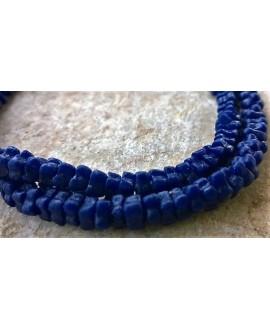Vidrio reciclado forma flor 5-6mm por 3 mm azul Índigo  paso 2mm, precio por 90 unidades