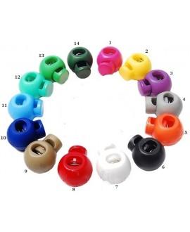 Cierre clip mate para cordones, hilos y cuero 21x18mm, paso 4,5mm