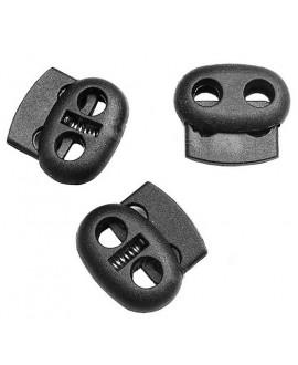 Cierre clip mate para cordones, hilos y cuero 21x23x7mm, paso doble de 5mm