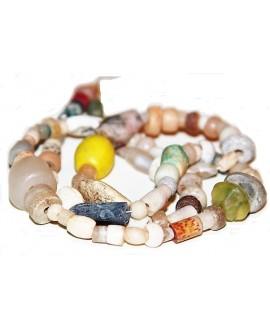 Cuenta mixtas antiguas, cristal de roca, ágata, granito..., provienen de  Malí