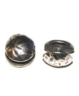 Chincheta martillada 18mm, separación 5mm, zamak baño de plata