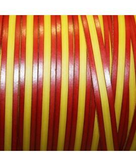 Cuero sintético bandera España 15mm, precio por metro