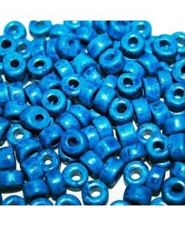 Rondel de cerámica 6mm,  paso 2mm, precio por 20 unidades color azulón