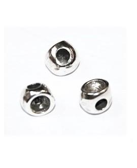 CUENTA IRREGULAR 7X7X6MM PASO 3MM para swarovski 1088 4mm, zamak baño de plata
