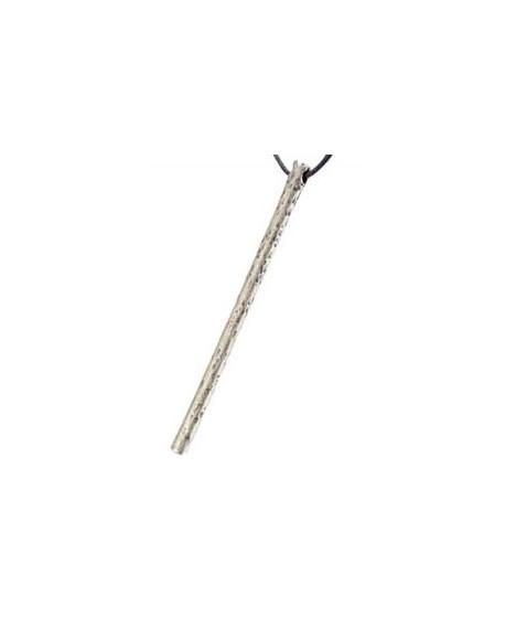Colgante  palo machacado 78x4.5mm paso de 2.5mm, zamak baño de plata
