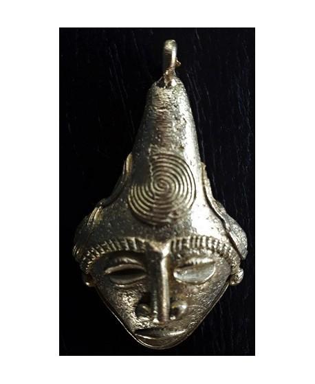 Colgante mascara mm, paso 4mm, bronce