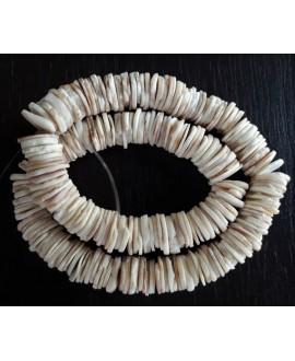 Concha natural de Senegal, 12mm paso 1mm, ristra de 21cm