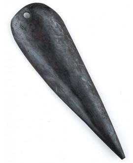 Colgante hueso Pluma marrón oscuro, 81x23mm