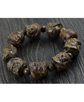 PULSERA madera de sándalo Rosewood , ELÁSTICA