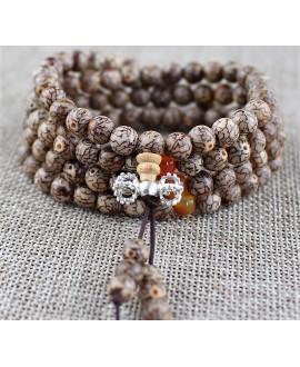 Japa mala nº11, semilla natural de Bodhi
