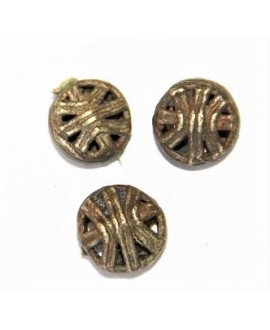 Cuenta bronce 13x13mm paso 3mm