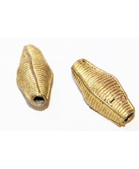 Cuenta bronce 33x14mm paso 3mm