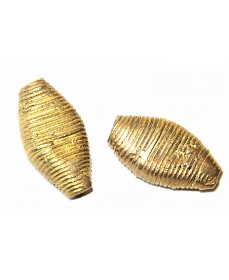 Cuenta bronce 29x16mm paso 3mm