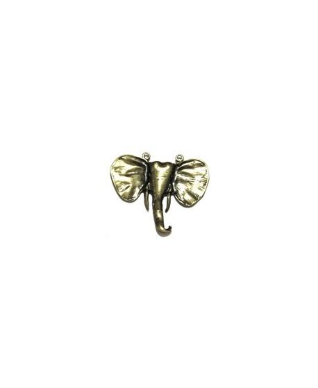 Colgante elefante africano 93x80mm, zamak baño de bronce