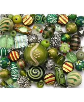 Kits Green Ganesh de cuentas cristal indio/madera, 150gr