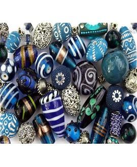 Kits tilaka turquoise de cuentas cristal indio, 145gr