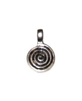 Colgante espiral 20x14mm, paso 2 mm, zamak baño de plata