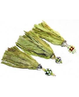 Borla seda sari largo 15/16cm, hechas a mano