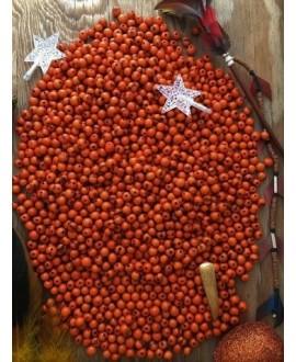 Cuenta de Semillas de palma natural del Amazonas 10mm, 134 unids.